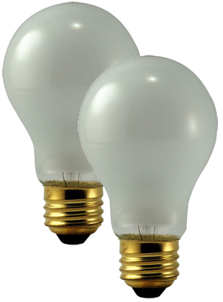 Image of Philips 75 Watt Rough Service Frosted Bulbs Pair