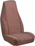 Elegant Letan Suede Camel High-Back Bucket Seat Cover (Pair)