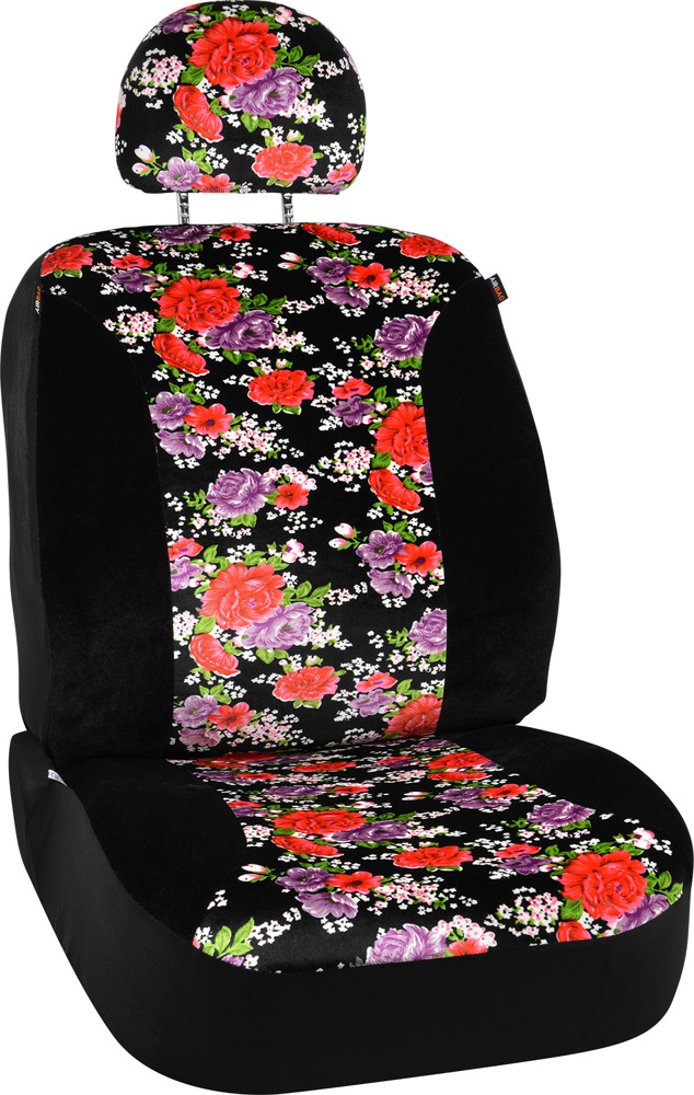 Image of Floral Design Universal Low Back Seat Cover