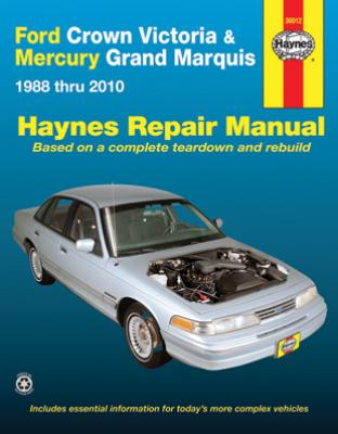 ford crown victoria mercury grand marquis haynes repair manual 1988 2010 hay36012. Black Bedroom Furniture Sets. Home Design Ideas