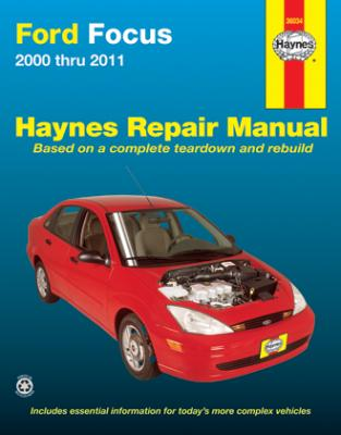ford focus haynes repair manual 2000 2011 hay36034. Black Bedroom Furniture Sets. Home Design Ideas