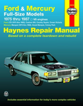 Ford & Mercury Full-size Models Haynes Repair Manual  (1975 thru 1987)