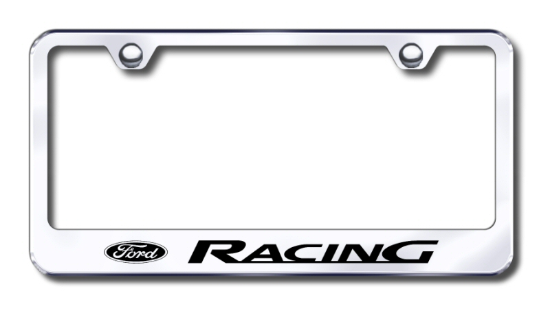 Ford Racing Logo Laser Etched Stainless Steel License Plate Frame ...