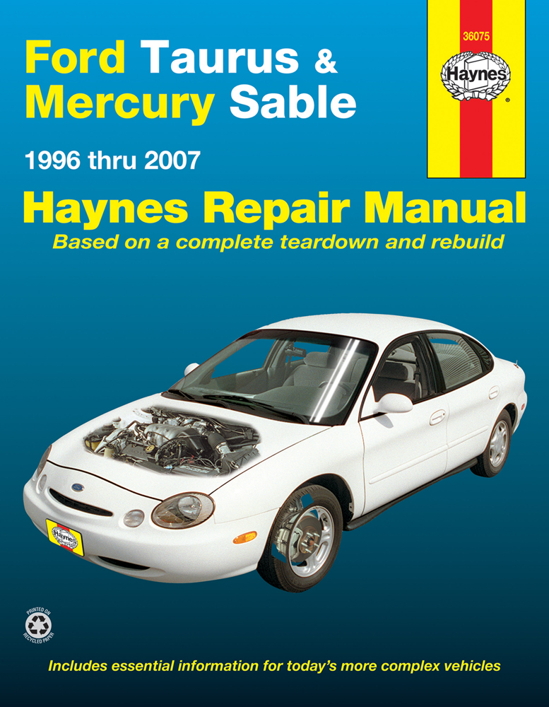 ford taurus mercury sable haynes repair manual 1996 2007 hay36075 rh autobarn net 1996 Mercury Mystique Problems 1996 mercury mystique owner's manual