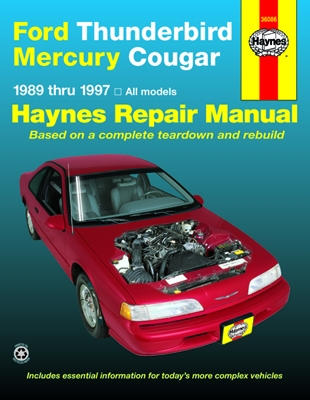 ford thunderbird mercury cougar haynes repair manual 1989 1997 rh autobarn net 1997 Ford Mercury 1997 Mercury Sable