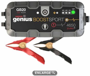 Genius Boost Sport 12V 400 Amp Ultra Safe Lithium Jump Starter & USB Charger