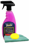 Gliptone Body Gloss Spray N' Shine (22 oz), Microfiber Cloth & Foam Pad Kit