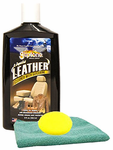 Gliptone Leather Cleaner (8 oz.), Microfiber Cloth & Foam Pad Kit