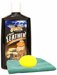 Gliptone Leather Conditioner (8 oz.), Microfiber Cloth & Foam Pad Kit