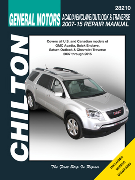 gmc acadia buick enclave saturn outlook chevy traverse chilton rh autobarn net 2009 gmc acadia repair manual 2009 GMC Acadia Interior