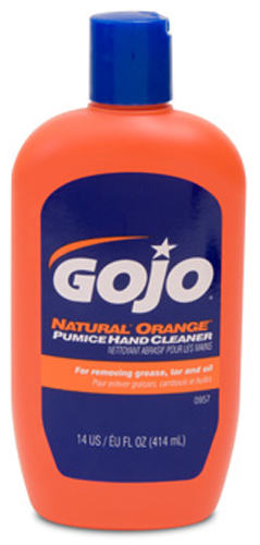 Image of GOJO Natural Orange Pumice Hand Cleaner 14 oz