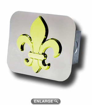 Fleur De Lis Logo On Base Of Glass