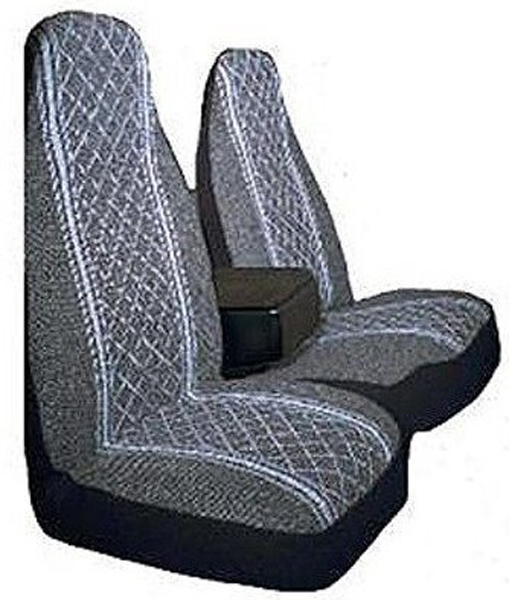 Gray Diamond Back 60/40 Split Truck Seat Cover (Pair) ALI67-1917GRY