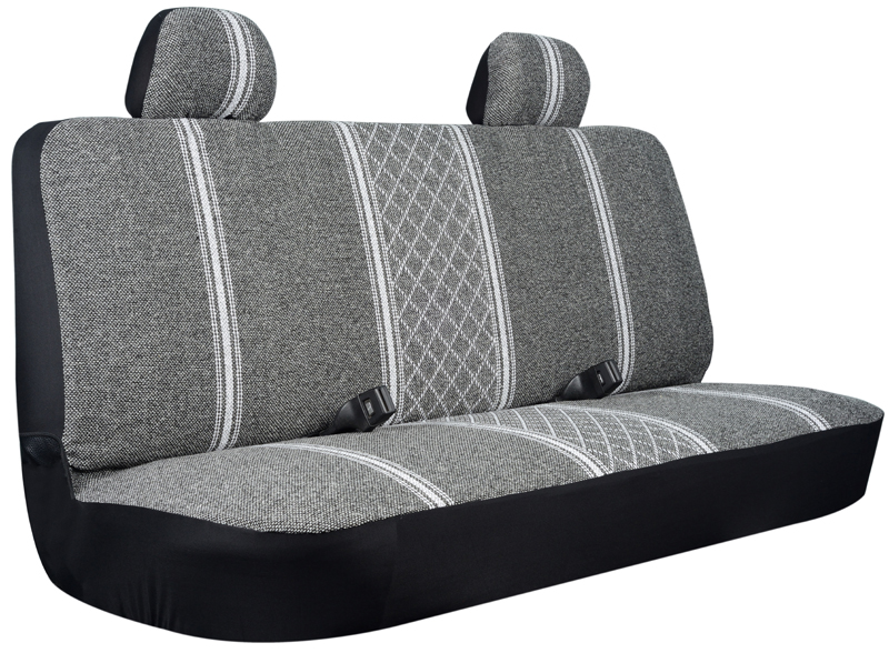 Image of Gray Diamond-Back Truck Bench Seat Cover