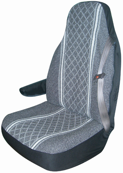 Image of Gray Diamond-Back Truck Bucket Seat Cover (Pair)