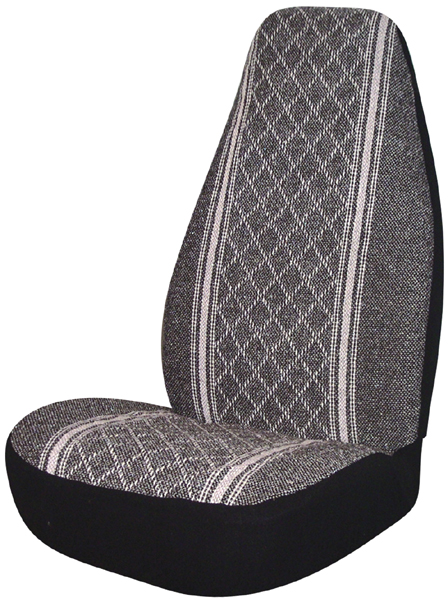 Image of Gray Diamond-Back Universal Bucket Seat Cover (Pair)
