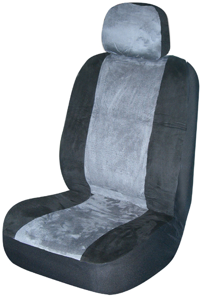 Image of Gray Memory Foam Low-Back Bucket Seat Cover