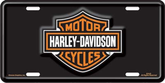Harley Davidson Bar & Shield Logo Stamped Metal Auto Tag