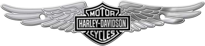 Image of Harley-Davidson Bar & Shield w/ Wings - Chrome Tag Accessory