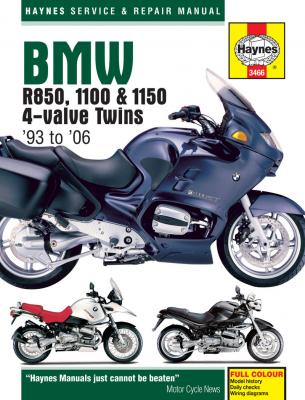 BMW R850 1100 & 1150 4-Valve Twins Haynes Repair Manual 1993-2006