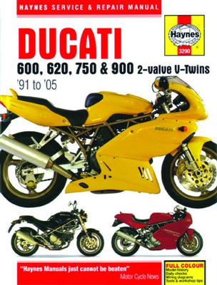 Ducati 600 750 & 900 2-Valve V-Twins Haynes Repair Manual 1991-2005
