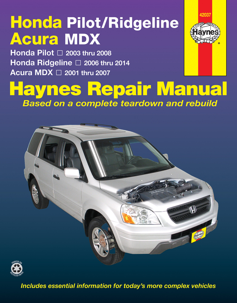 haynes repair manual for acura mdx honda pilot and. Black Bedroom Furniture Sets. Home Design Ideas
