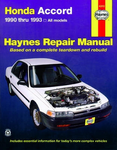Haynes Repair Manual For Honda Accord (1990-1993)