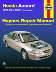 Haynes Repair Manual For Honda Accord (1998-2002)