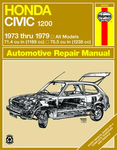 Haynes Repair Manual For Honda Civic 1200 (1973-1979)