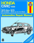 Haynes Repair Manual For Honda Civic 1500 CVCC (1975-1979)