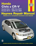 Haynes Repair Manual For Honda Civic & CR-V (2001-2010)