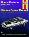 Haynes Repair Manual For Honda Prelude (1979-1989 )