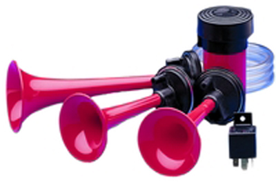 Image of Hella 12V Triple-Tone Air Horn Kit