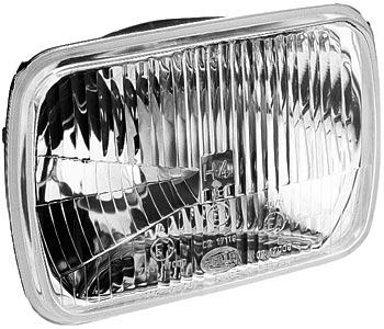 Image of Hella 190 x 132mm H4 Single High/Low Beam Headlamp - Off-Road Only