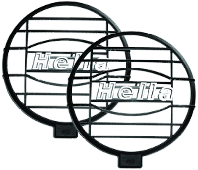 Image of Hella 500FF Free-Form Lamp Series Mesh Grille Shield Pair