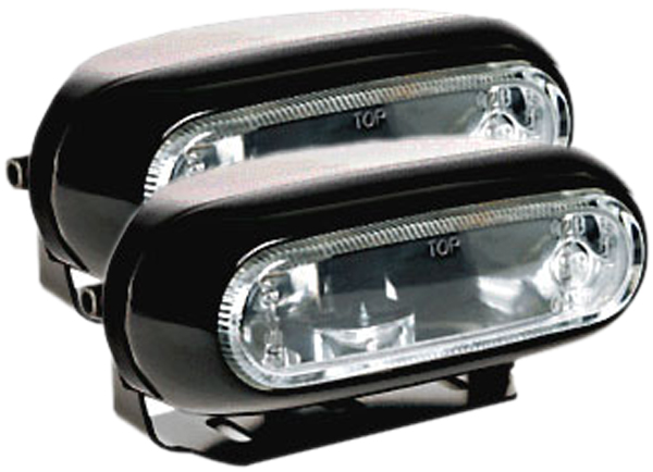 Image of Hella Optilux 1200 Black Rectangular Fog Lamp Kit