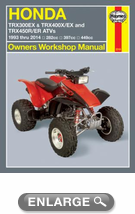 Honda TRX300EX, TRX400EX & TRX450R Haynes Repair Manual (1993-2014)