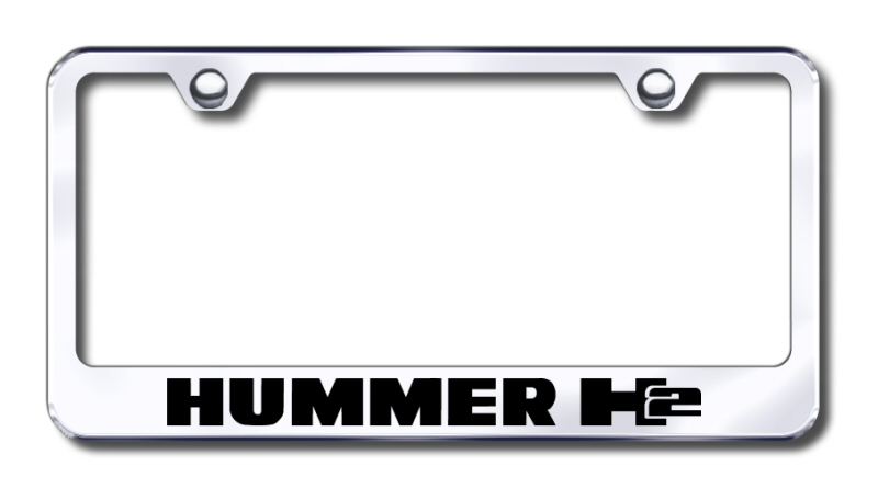 Hummer H2 Laser Etched Stainless Steel License Plate Frame