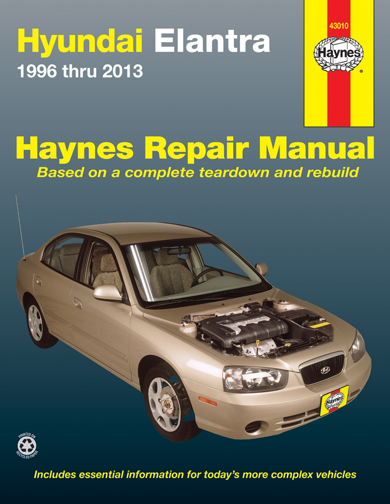 hyundai elantra haynes repair manual 1996 2013 hay43010. Black Bedroom Furniture Sets. Home Design Ideas