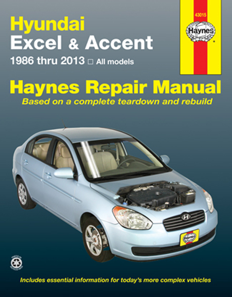 Hyundai Excel  U0026 Accent Haynes Repair Manual  1986