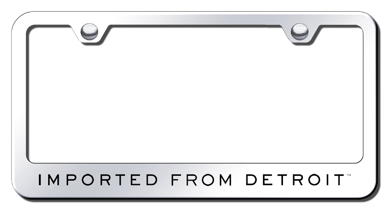 Imported from Detroit Laser Etched Stainless Steel License Plate ...