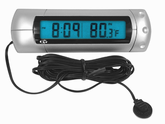 Indoor/Outdoor Digital Clock & Thermometer w/Backlight
