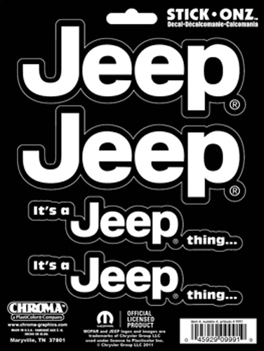 "Image of """"""Its A Jeep Thing"""" Self Adhesive Decals"""