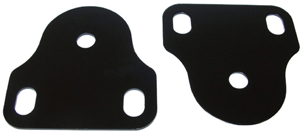 Jeep CJ Black Steel Interior Windshield Brackets (1976-1986)