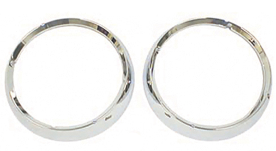 Jeep CJ Chrome Headlight Bezel-Pair (1972-1986)