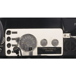 Image of Jeep CJ Stainless Steel Gauge Cover (1976-1986)