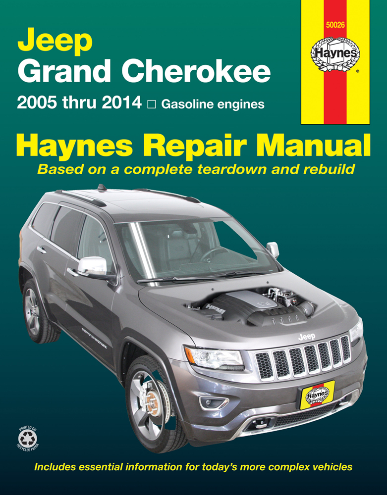 jeep grand cherokee haynes repair manual 2005 2014. Black Bedroom Furniture Sets. Home Design Ideas