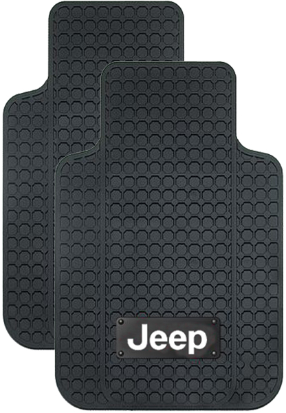 Image of Jeep Logo Truck Rubber Floor Mat (Pair)