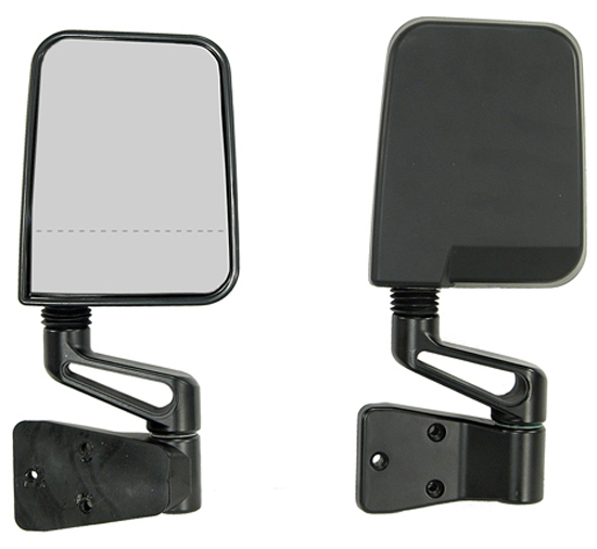 Jeep Wrangler Black Dual Focal Point Mirrors 1987-2002