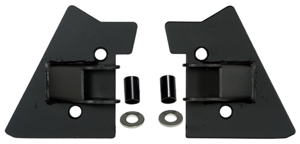Jeep Wrangler Black Mirror Relocation Brackets-Pair (1997-2002)